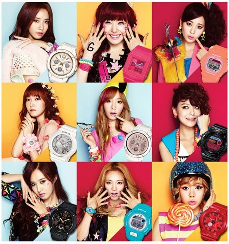 Girls' Generation for Casio's 'Baby-G'