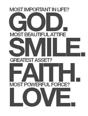 God, Faith, and Amore
