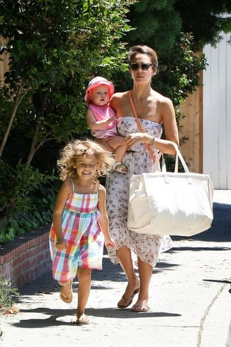 Jessica Alba and Family in Brentwood [August 5, 2012]