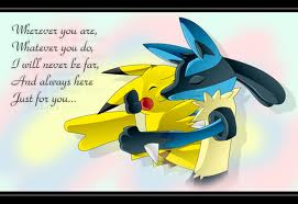 Pikachu and Lucario