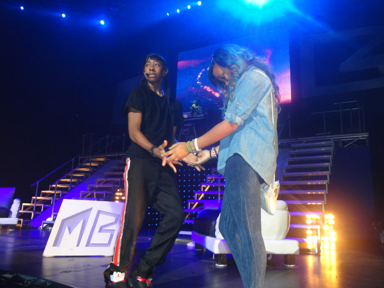 Ray Ray & star on stage