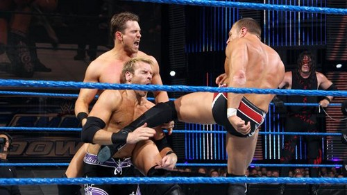 Y2J , Christian and Kane vs Bryan, Miz and Ziggler