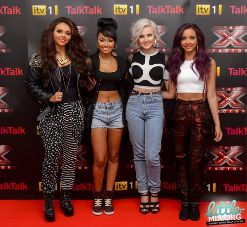 HQ - Little Mix attend an X Factor conference in London - Arrivals {16/08/12}.