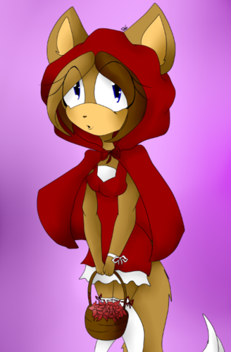 Jane as Little Red Riddint Hood