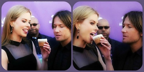 Nicole, Keith and a cupcake