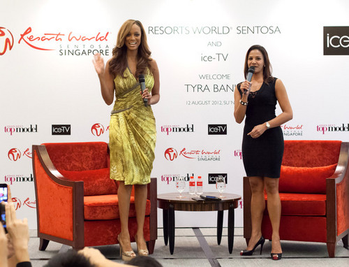 Tyra Banks attends the Asia's Next Top Model press conference, 12 august 2012