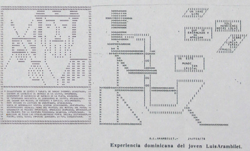 Arambilet Pioneering ASCII ART: Created in 1975 (punched cards 80 columns,IBM 370-115 CPU