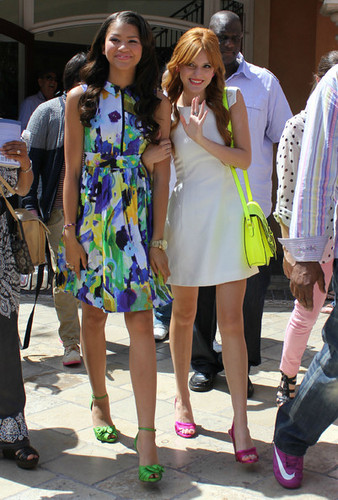 Bella Thorne and Zendaya in in Los Angeles, California 2012