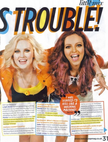 "Little Mix cover ""We Love Pop"" magazine - August 2012."
