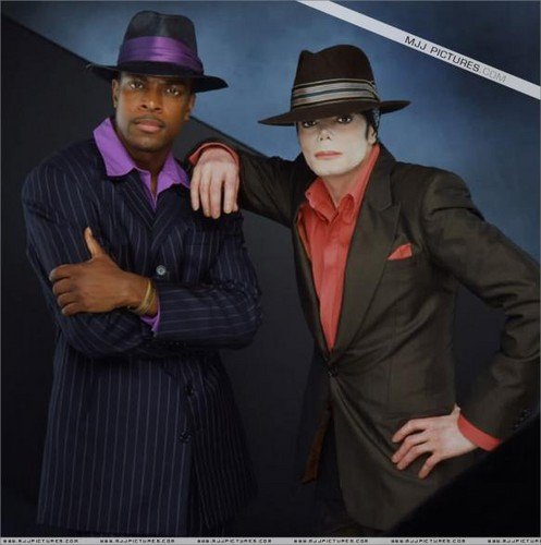 Michael And Good Friend Chris Tucker