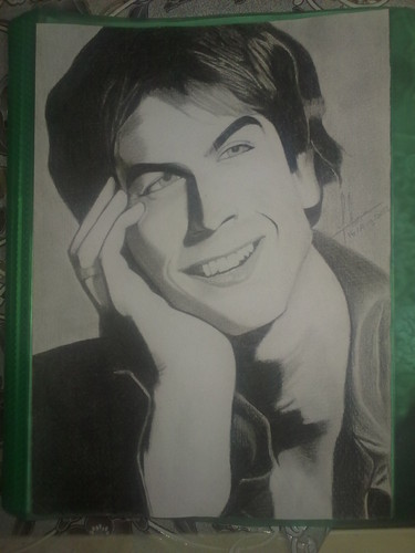 My Sketch Of Ian Somerhalder As Damon Salvatore