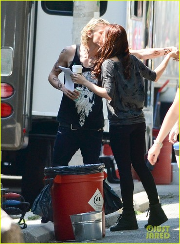 On the set of 'The Mortal Instruments: City of Bones' (August 24, 2012)