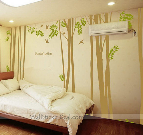 Protect Nature Birds and Tree Wall Stickers