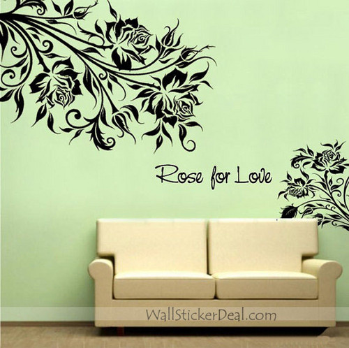 Rose For Love Rose Flower Wall Stickers