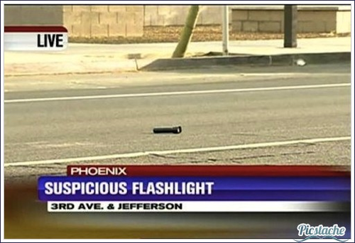 Suspicious Flashlight