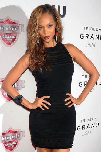 Tyra Banks Promotes in NYC