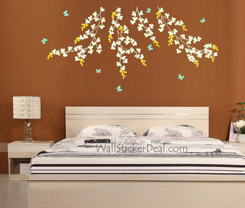 Vine and Butterfly Wall Stickers