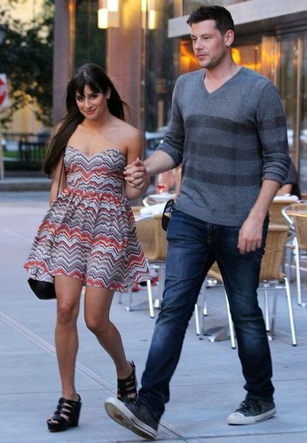Cory & Lea On Set In New York