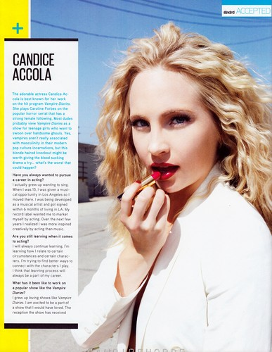 "HQ Scans of Candice in ""STNDRD"" magazine {September 2012}."