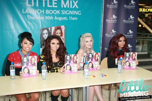 Little Mix at a signing for 'Little Mix : Ready To Fly' at Waterstones in Greenhithe - 30/08/12.