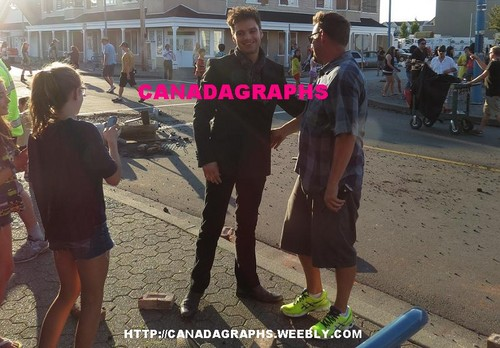 Sebastian Stan on the set of OUAT2
